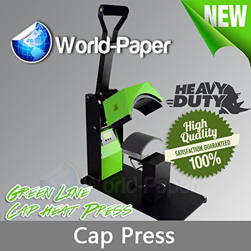 Cap Press Heat Press Machine Heavy Duty Sublimation, HTV, Transfer Paper Compared as Hotronix by Calor Press Green Line