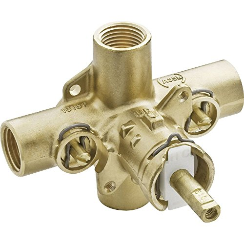 Moen 2590 Rough-In PosiTemp Pressure Balancing Cycling Shower Valve with Stops, 1/2-Inch IPS