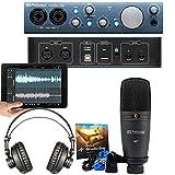 PreSonus Audiobox-iTwo-Studio Complete Mobile Hardware/Software Recording Kit, Black/Blue