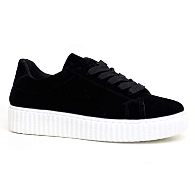 c085cfa8e12ce New Womens Ladies Casual Walking Trainers Lace Up Wedge Flatform Creeper  Shoes Sizes 345678