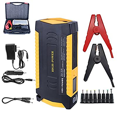 Blueye 600A Peak 20000mAh Portable Car Jump Starter (5.5L/2.5L) Auto Battery Booster, Phone Power Bank for Phone/Tablet,With Safety hammer, Seat belt cutting knife,LED Light, Built-in Smart Protection
