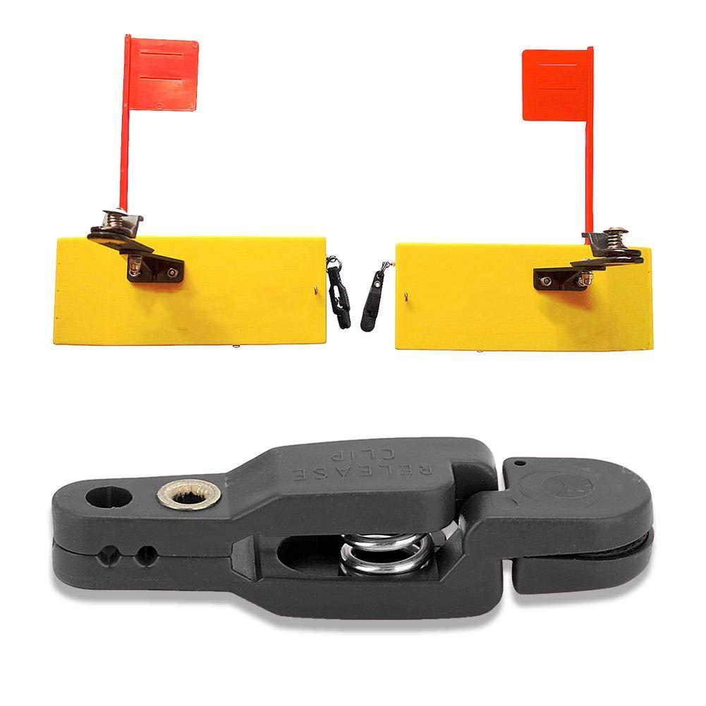 Huairdum Schnappverschluss Power Sea Fishing Buckle Hochfestes Grip Board Mast Clamp Trolling Boot mit Draht zum Sinken von K/ödern Weight Planer Outrigger Downrigger