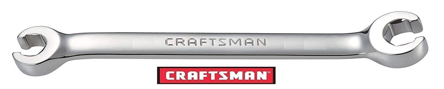 Craftsman Flare Nut Wrench, full polish, Metric MM Size (16mm X 18mm) by Crafts'man