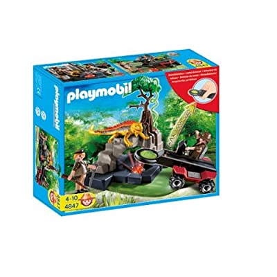 Playmobil 4842 - Jeu de construction - Temple du trésor avec gardiens