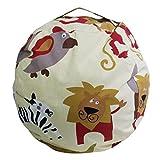 EXTRA LARGE - Stuffed Animal Storage Bean Bag Chair| 26''& 38'' Extra Large | Light Blue | Premium Cotton Canvas (38'', Light Yellow)