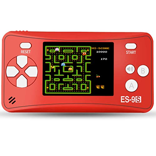 """Kids Handheld Game Console Retro Video Game Player Portable Mini Arcade Gaming System for Children Travel Holiday Recreation 2.5"""" Color LCD Screen with Build in 16 Bit 168 Classic Games (Red)"""