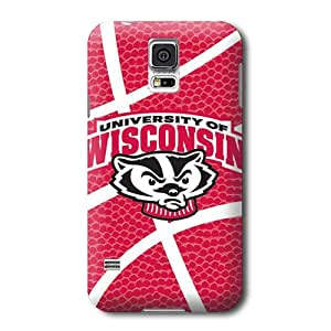ArtPopTart S5 Case,Schools Wisconsin Red Pattern Samsung Galaxy S5 Covers,Durable Hard Case Covers