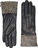 UGG Women's Animal Skin Smart Leather Gloves Black Micro Dot MD