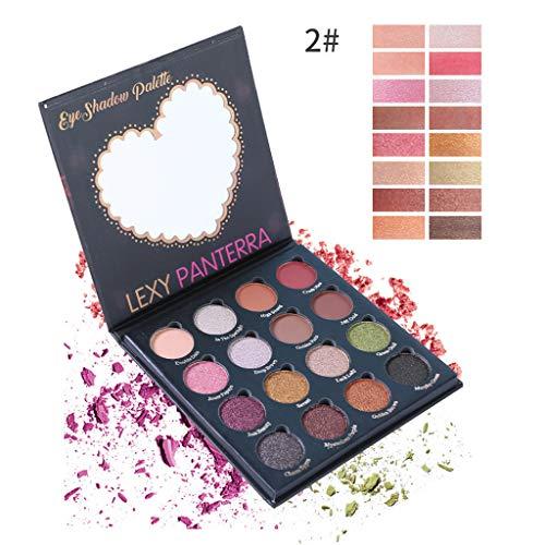 Sdoo Eye Shadow, Lexypanterra Pearlescent 16 Color Eyeshadow Waterproof Matte For Women For Girls Tops (B)