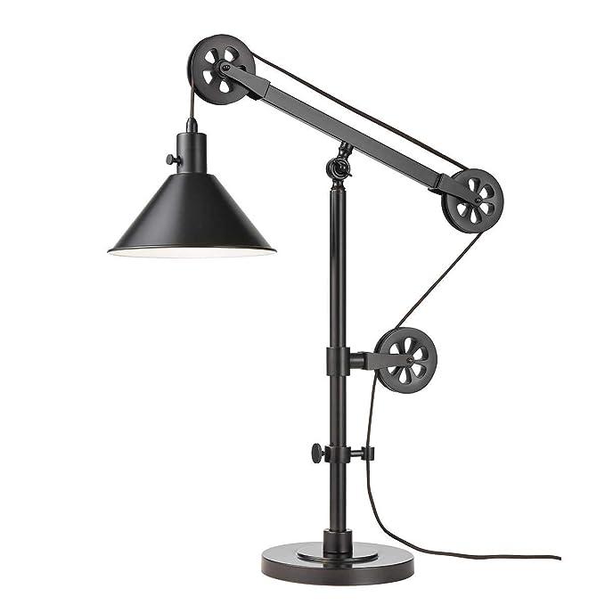 Bridgeport Designs Lámpara de mesa polea: Amazon.es: Iluminación