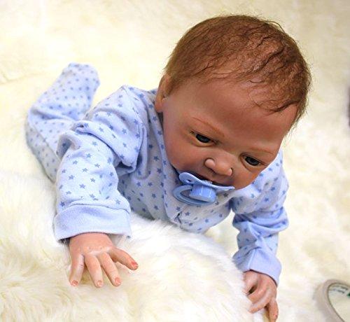 ZIY IUI Hecho a Mano 49cm 19Pulgadas Reborn Bebe Mu/ñecas Realista Lleno Cuerpo Silicona Girl Reci/én Nacido Baby Dolls Mu/ñecos