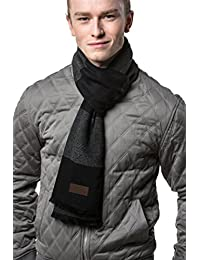 Mens Scarf - 100% Cotton Winter Scarves fo Men - Elegantly Gift Wrapped
