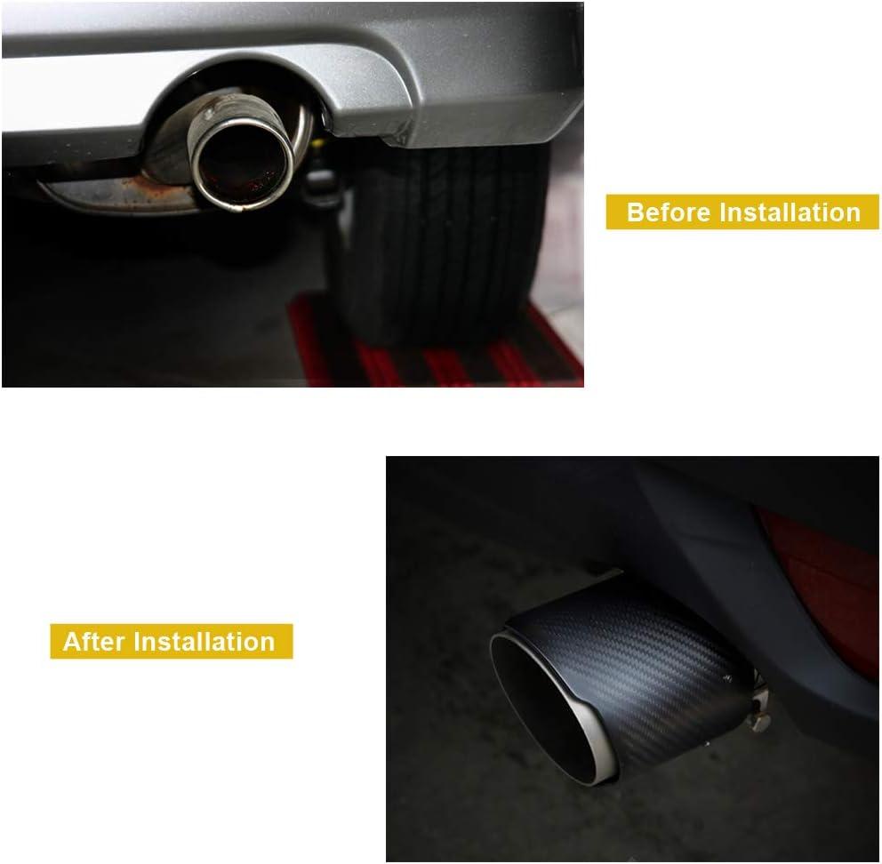 Auspuffblenden Auto Auspuffspitze Carbon Universial Auspuff Endrohr Endrohr Für Auto Suv 63mm 89mm Matte Auto