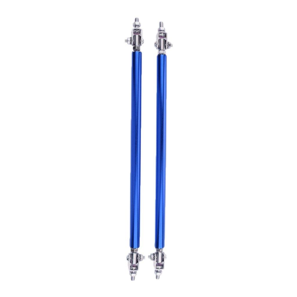 Homyl 2X Adjustable Front Bumper Lip Splitter Strut Tie Bar Support Rod 20cm for Most Vehicles Black