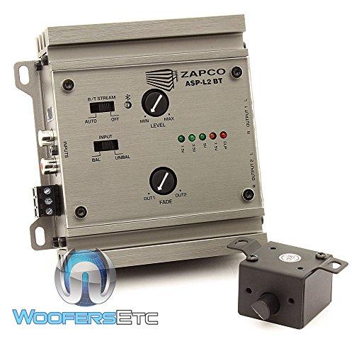 Zapco ASP-L2 BT 2 Channel 9.5V Line Driver, Bluetooth Streaming w/ Dash Remote (Line Driver Preamp)