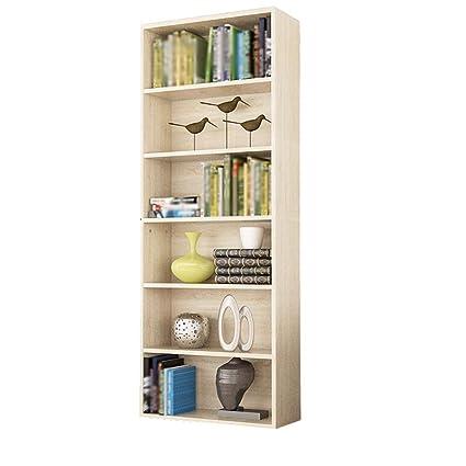 WBBSLJ Bookshelf Bookcase Shelf File Cabinet Six 158 M Storage Oak Color