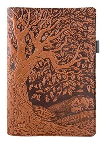 """Genuine Leather Portfolio with Notepad, Pockets & Pen Holder, Saddle Padfolio Notebook for Executives, Artists and More 