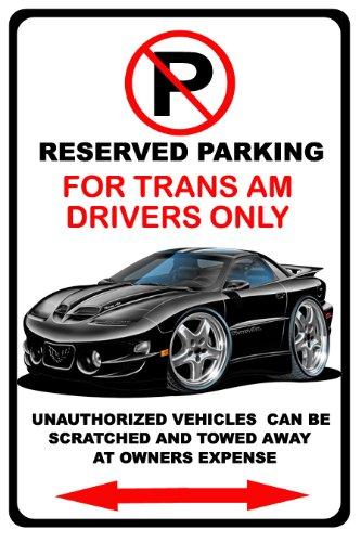 1998-02 Pontiac Firebird Trans Am Muscle Car-toon No Parking Sign