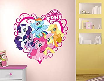 Wall Decal No702 My Little Pony Heart 83x85cm Top Dimensions