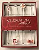 Celebrations by MIKASA set of four (4) Holiday Swizzle Sticks - Wreath, Candy Cane, Peppermint and Bow