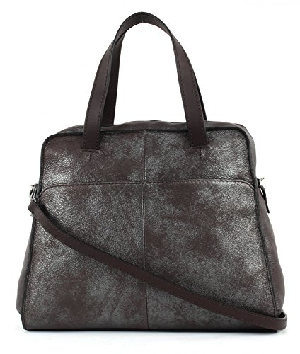 Marc OŽPolo Soft Metallic Hand Bag L Brown
