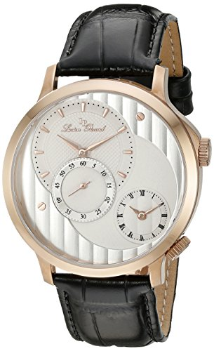 Lucien Piccard Men's LP-10337-RG-02S Messina Rose Gold-Tone Watch with Black Leather Band
