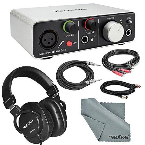 Focusrite iTrack Solo USB Audio Interface Deluxe Bundle W/