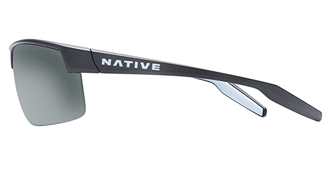 cb8e32ae56a Amazon.com  Native Eyewear Unisex Hardtop Ultra XP Matte Black Gray  Sunglasses  Sports   Outdoors