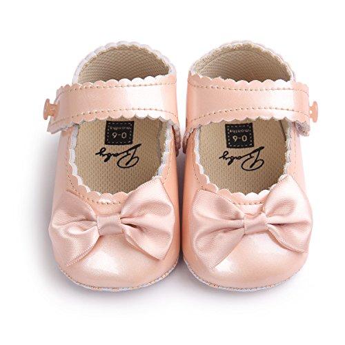 Sabe Infant Baby Girls Soft Sole Prewalker Crib Mary Jane Shoes Princess Light Shoes (12-18 Months Toddler, Gold)