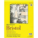 Strathmore 11-Inch by 14-Inch Bristol Smooth Paper Pad, 20-Sheet (2 Pack)