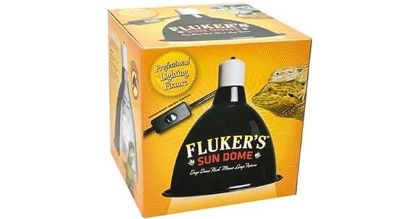 Amazon.com: Fluker de mini Sun Dome lámpara de reptil, color ...
