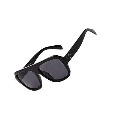 7c4c285fd9d MagiDeal Mens Ladies Large Classic Outdoor Sunglasses Fashion Shades UV400  Unisex - Black  Amazon.co.uk  Clothing