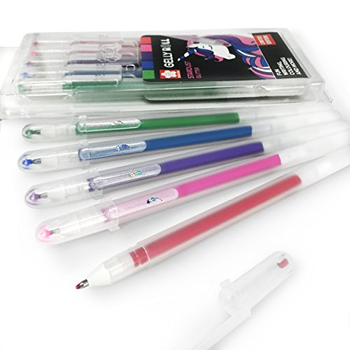 Sakura Gelly Roll Stardust Glitter Gel Pens - Wallet of 5 Assorted Colours - Unicorn Set - CPSTA5B