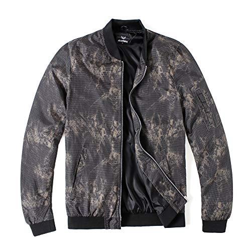 MADHERO Men's Bomber Jacket Camo Lightweight Outerwear