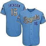 Men's #16 Bo Jackson Baseball Alternate Jersey Blue XL