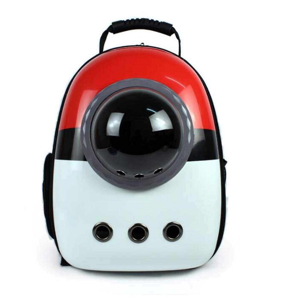 Red Pet Bubble Pack, Airline Approved, Breathable Pet Travel Backpack Space Capsule Carrier Bag Hiking Bubble Backpack Cat and Dog Puppy,Red