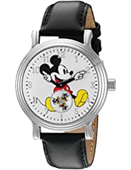 Disney Womens Mickey Mouse Quartz Metal Watch, Color:Black (Model: W002751)