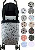 Universal Baby Blanket Footmuff for Pushchairs -Graco, Babybjorn, Kolcraft-Janabebe (Black Star, Fleece)