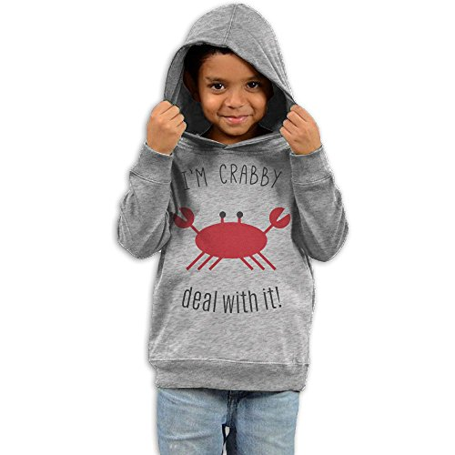 ZhiqianDF Girls I'm Crabby Deal With It Classic Hoodies3 Toddler - Frames Glasses Cudi Kid