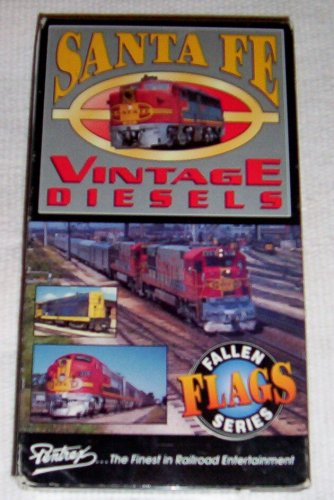 (Santa Fe Vintage Diesels [Trains] -- Fallen Flags Series -- VHS Tape -- 50 Minutes -- Color, with appropriate stereo sound and narration!!!)
