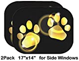 Liili Car Sun Shade for Side Rear Window Blocks UV Ray Sunlight Heat - Protect Baby and Pet - 2 Pack Image ID: 9224054 Golden Animal Feet on The Dark