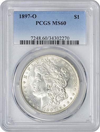 1897 O Morgan Dollar MS60 PCGS