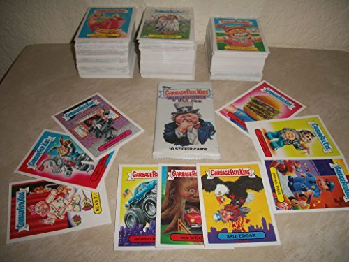 2016 GARBAGE PAIL KIDS -AMERICAN AS APPLE PIE- LOT OF THIRTY DIFFERENT STICKERS + 2 CEREAL KILLER STICKERS.
