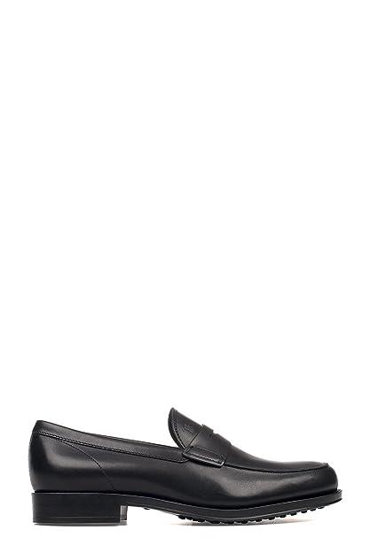 Men's XXM0UD00640D90B999 Black Leather Loafers