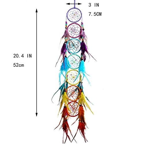 H&D Chakra Dream Catcher Chandelier Prisms Suncatcher Handmade Rainbow Fengshui Pendant (Style-5) by H&D (Image #1)
