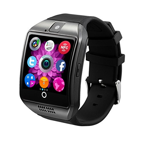 Antimi SmartWatch Sweatproof Smart Watch Phone for Android HTC Sony Samsung LG Google Pixel /Pixel and iPhone 5 5S 6 6 Plus 7 Smartphones Black