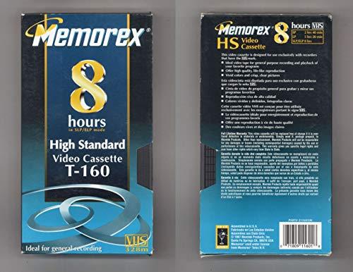 Single Pack VHS HGT T-160 8 Hr. Video Cassette
