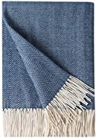 Bourina Decorative Herringbone Faux Cashmere Fringe Throw Blanket Lightweight Soft Cozy for Bed or Sofa Farmhouse...