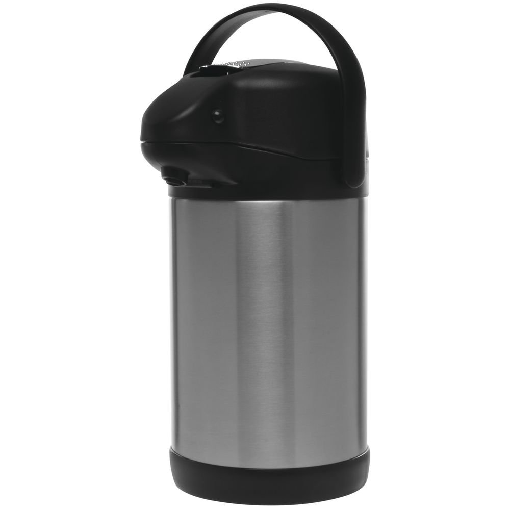 HUBERT Thermal Airpot Coffee Dispenser With Stainless Steel Liner 2.5 Liter - 8 3/4 L x 6 1/4'W x 13 H