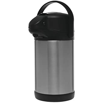 Thermal 2.5 Liter HUBERT Airpot Coffee Dispenser with Lever Lid